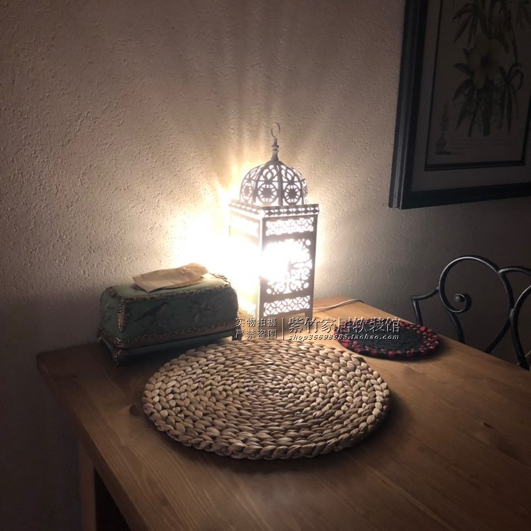 Moroccan style metal table lamp home decorations coffee shop decoration