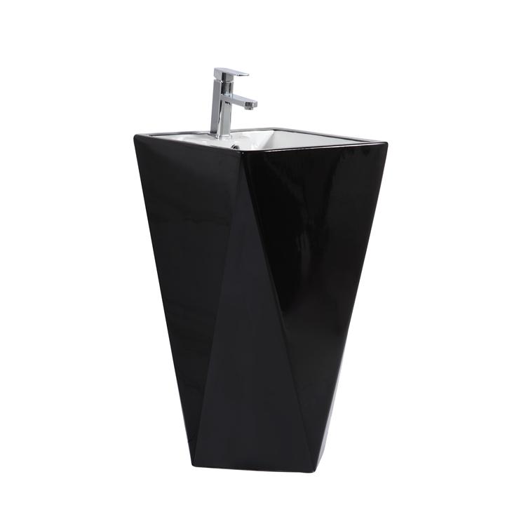2020 hot sale bathroom luxury one piece ceramic pedestal basin sink basin