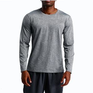 OEM mens t shirt elastic sleeve cuff t shirt Sweatshirts Long Sleeve Shirts Wholesale For Men