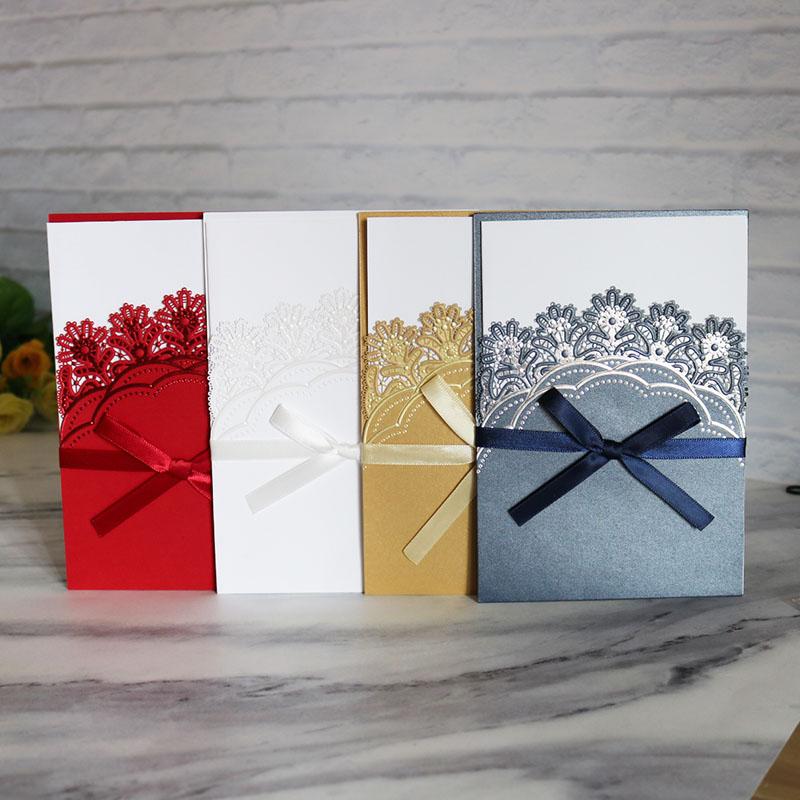 Прямые продажи с фабрики свадебные приглашения карты белый пустой внутренние страницы красочные приглашения карты