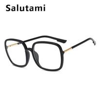 Черные Квадратные женские очки, Ретро стиль, новый бренд, оправа для очков, женские модные компьютерные прозрачные очки, Overszie, прозрачные(Китай)