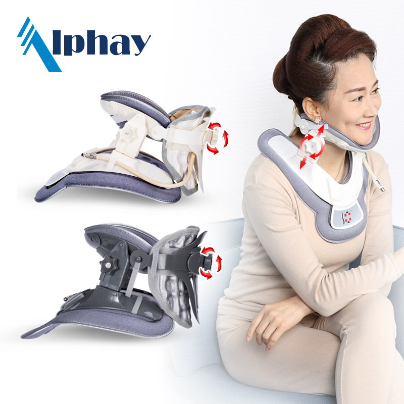 Alphay EC FDA certificated inflatable cervical collar soft air pump neck traction <strong>device</strong>