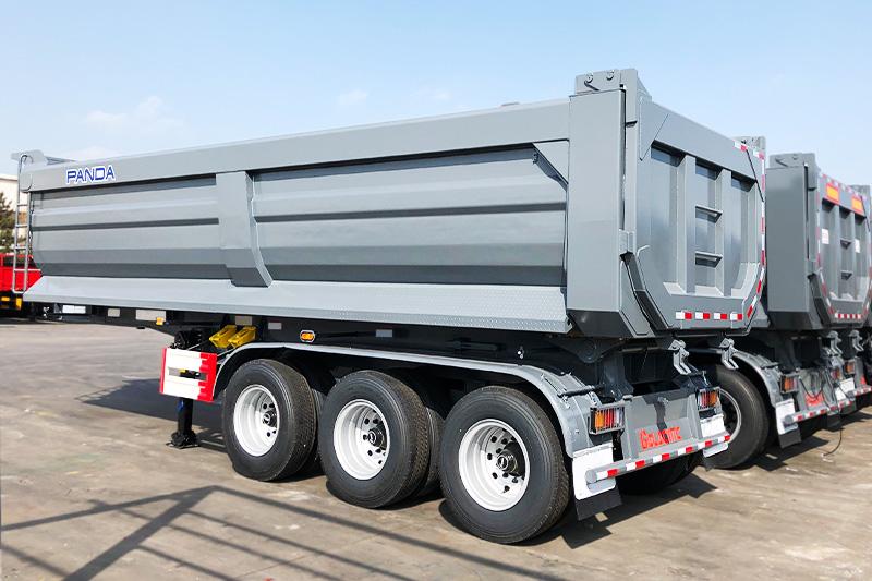 Manufacture Aggregate 45cbm 80 Tons 4 Axles U-Shape Dump