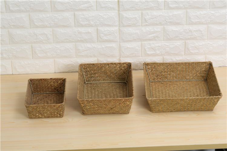 2019 Fashion Low Price Custom Nature Color Laundry Storage Basket Large Storage Basket