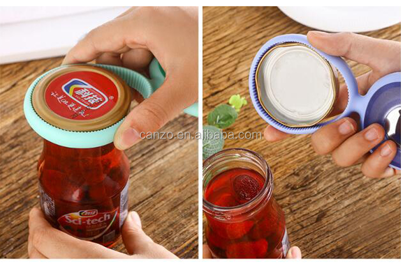 Creative Multi-function Silicone Grip Adjustable Jar Opener Bottle Beer Opener