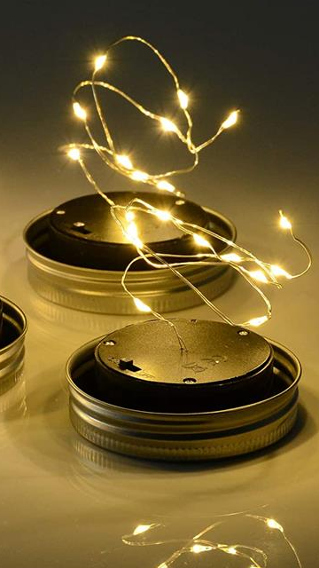 Out Sunny  Solar Garden Lights Glass Jar  Light with Handle Portable LED Warm White  Color Hanging Lantern