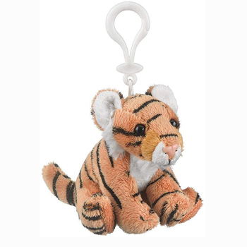 Custom Cute Lifelike Small Cartoon Stuffed Animal Plush Tiger Keychain