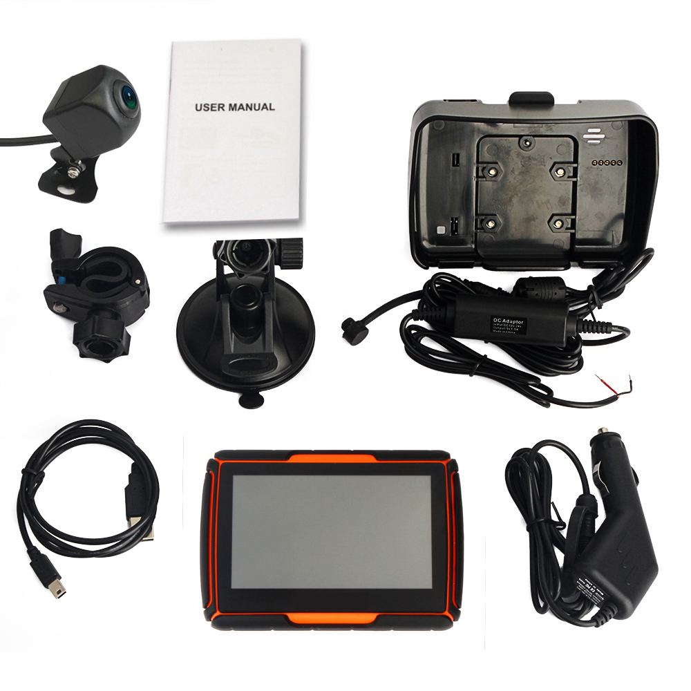 A-40 4.3Inch New Mould Waterproof Motorcycle Navigation Gps Camera