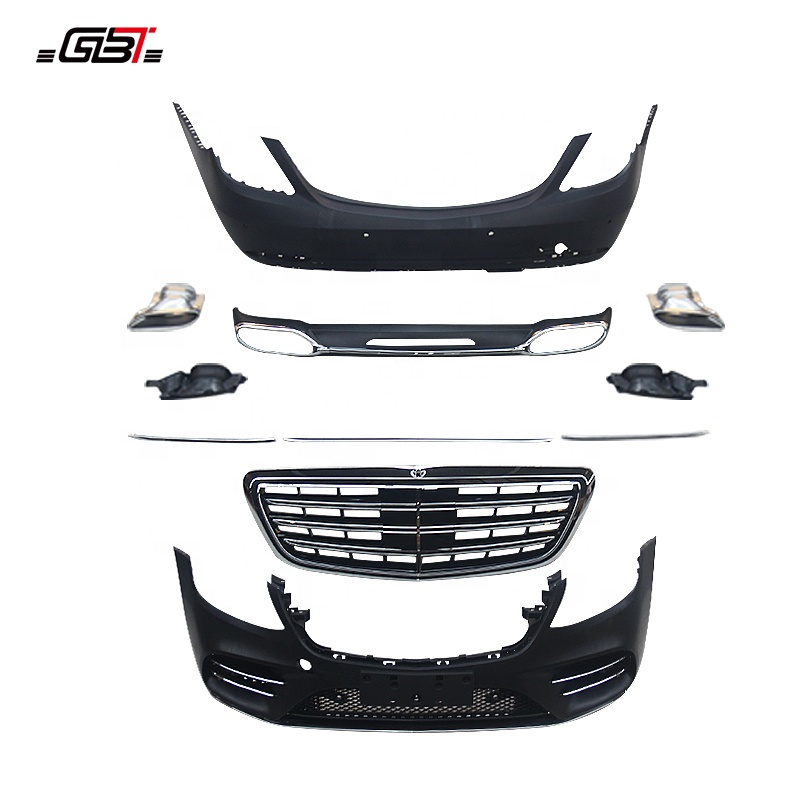 GBT auto parts body kit include pp abs material front/rear bumper grille year 2018 for Mercedes-Benz S450 Model