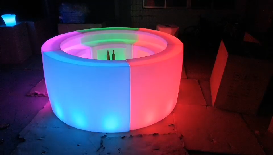 Led 바 카운터 가구 나이트 클럽 클럽 펍 빛나는 현대 코너 led 바 카운터 가구
