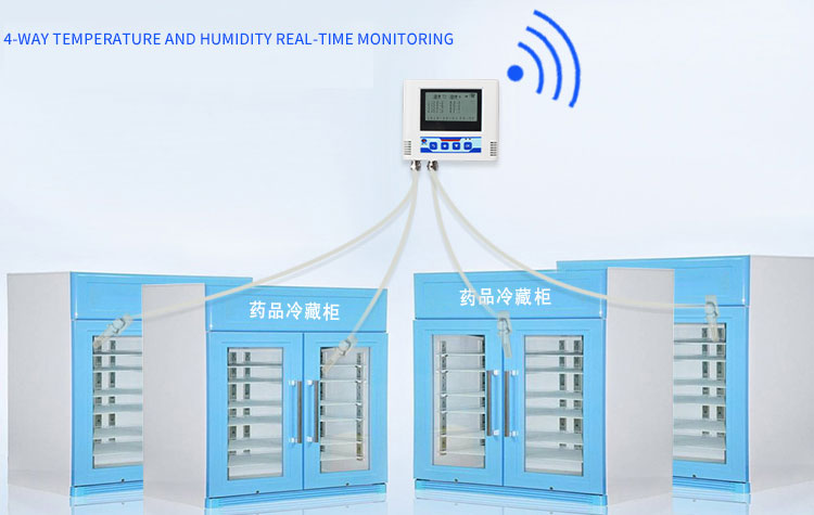 Industrial wifi multi-probe remote temperature and humidity transmitter
