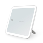 Touch screen White smart led lighted makeup mirror handy for travelling cosmetic mirror