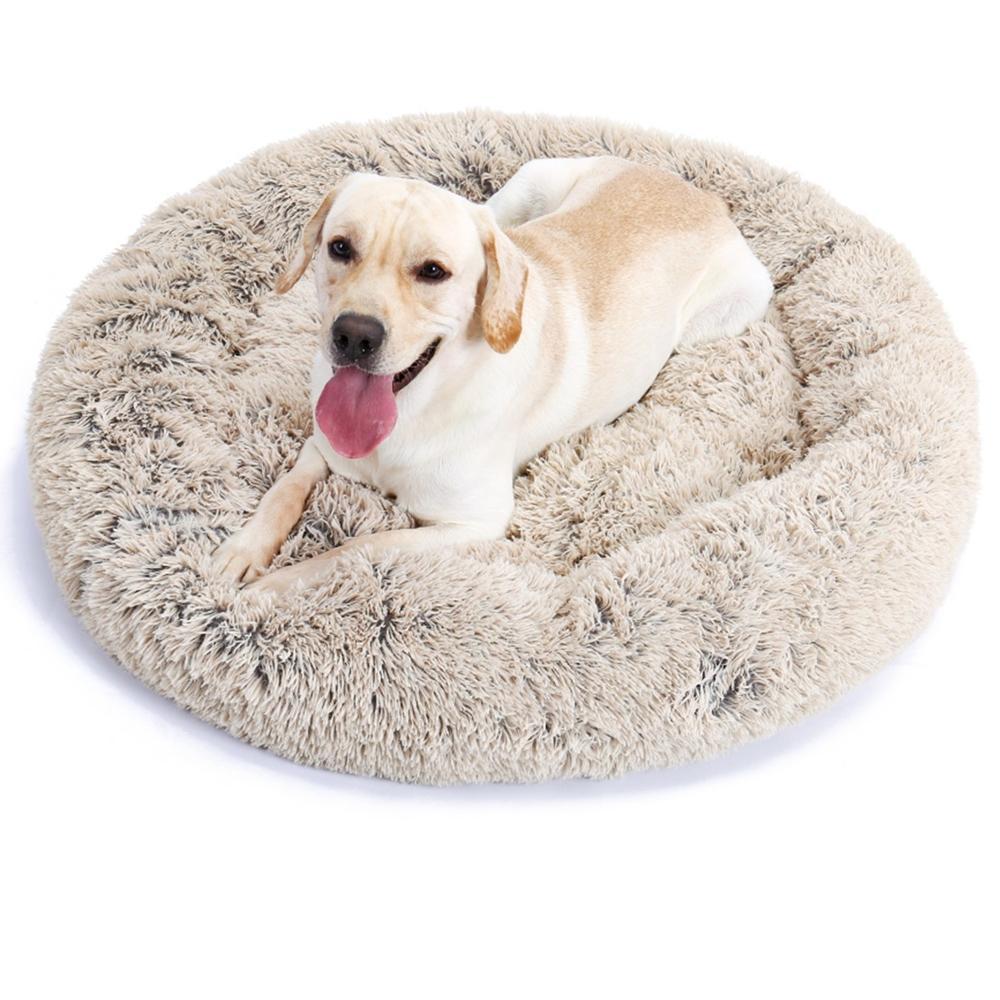 Petstar fabrico atacado Anti-slip pet de pelúcia almofada de pele dunut cuddle rodada gatos cama do cão