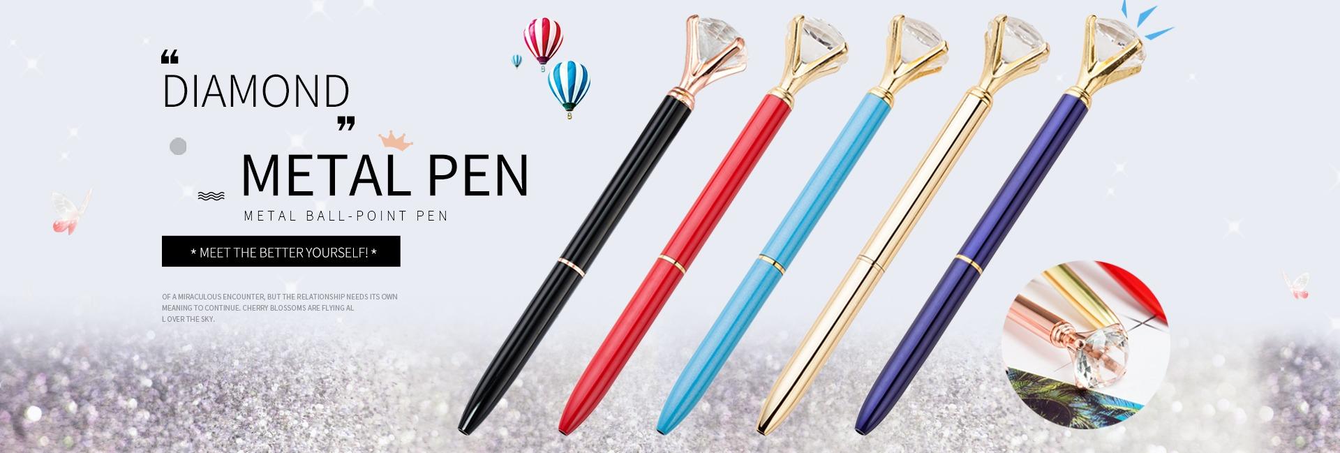 Creative Crown Diamond Pen Big Crystal Ballpoint Pen Stationery Office Supplies