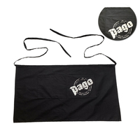 Promotion Black Waist Apron Short Apron with company logo printed