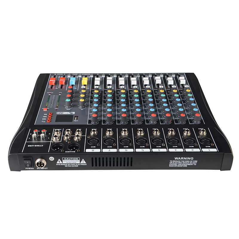 New 8 Channel Sound USB Audio Mixer digital Console With BT FM