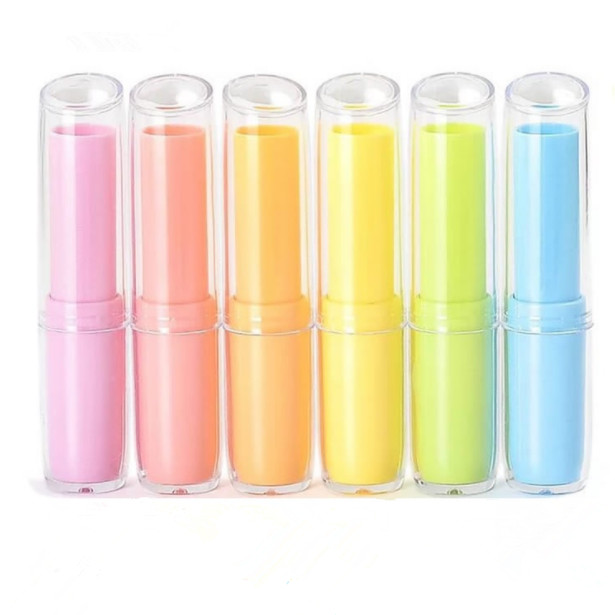 mini colorful red/white/pink/purple 3g 4g cosmetic empty chapstick lip gloss lip balm tube lipstick tube packaging lipstick tube