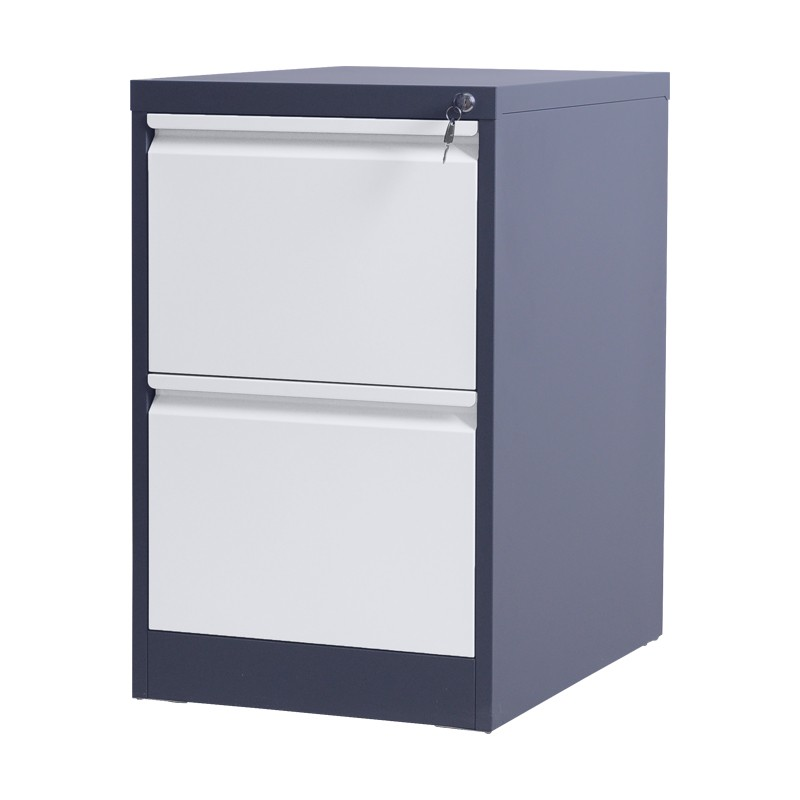 Different colors modern steel furniture factory storage 2 drawers metal cabinets