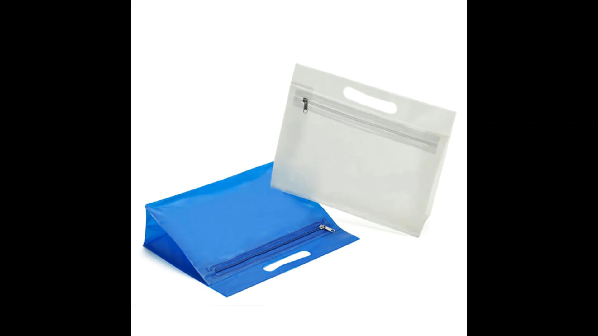 Custom printed zipper wet bikini PVC swimwear bag.