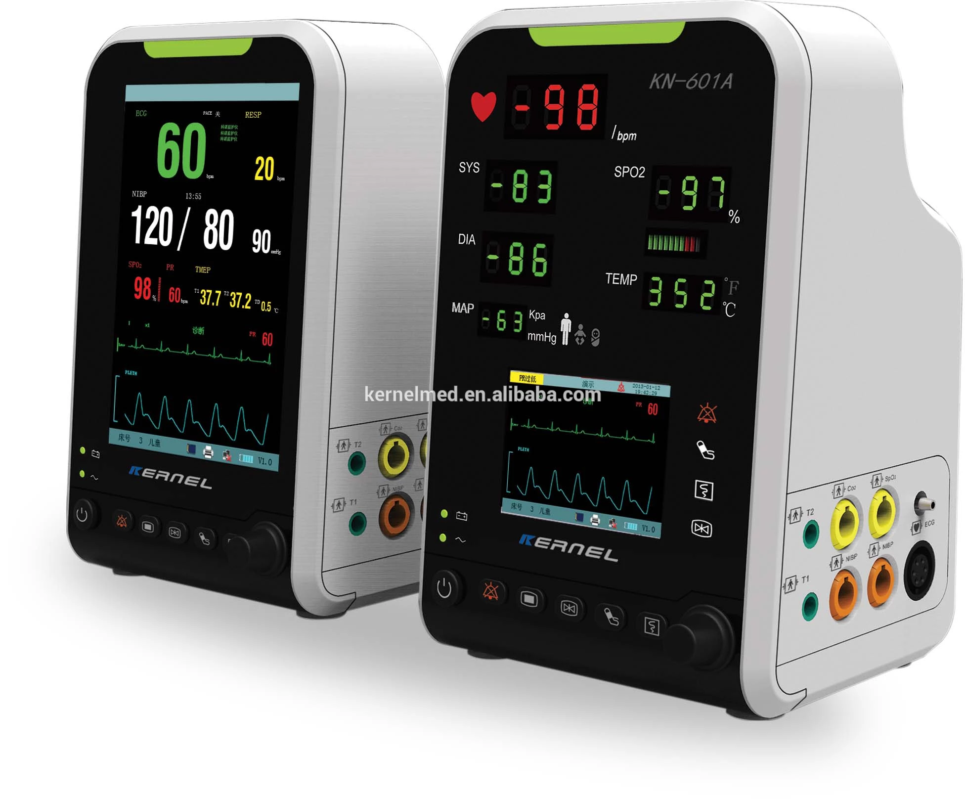 Portable used in Ambulance ICU Patient Monitor Kernel High Quality Brand with CE certification - KingCare | KingCare.net