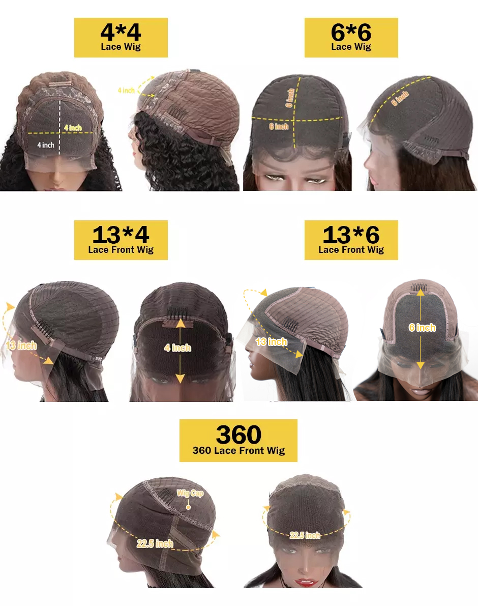 Unprocessed Brazilian Virgin Human Hair Lace Wig Vendor Wholesale Full Transparent HD Lace Front Closure 4x4 Loose Deep Wave Wig