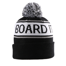 Custom Made <span class=keywords><strong>Logo</strong></span> Bordir Jacquard Knit Beanie dengan Pom Pom