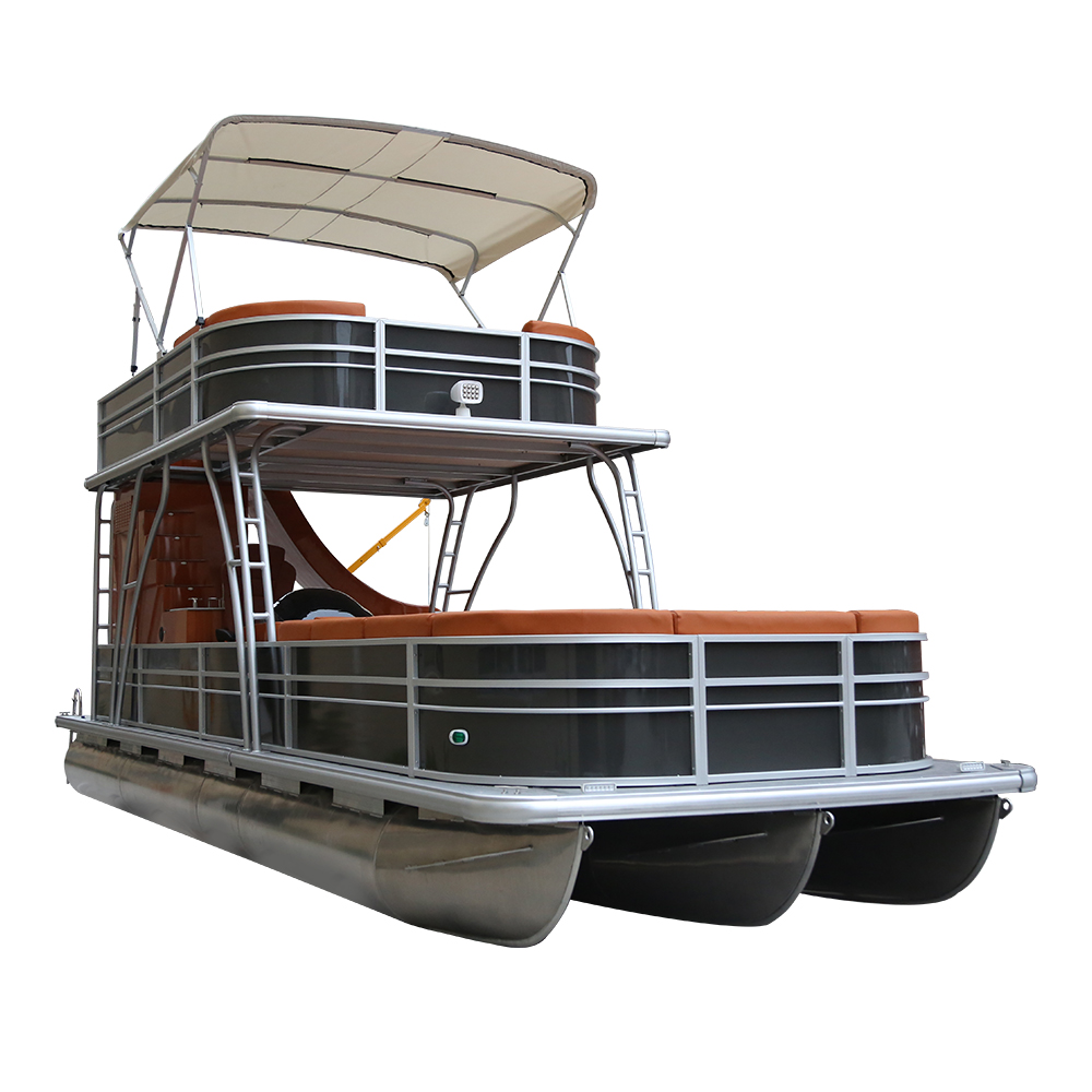 2020 New Direct Manufacturer Luxury Double Decker Pontoon Fishing <strong>Boats</strong> With Slide