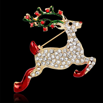 new design brooch pin for christmas gifts deer brooch enamel pin brooches