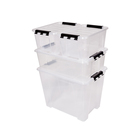 Hot Sale Clear Plastic Storage Box Multi-Purpose Storage Bin with Wheels