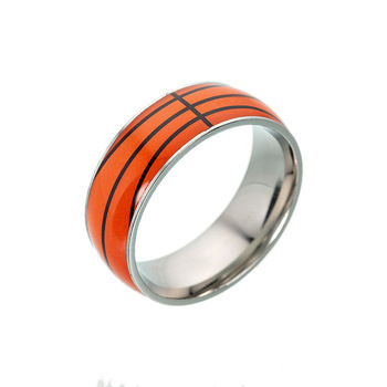 fashion football basketball baseball rugby ring custom jewelry wholesale men sporting ball ring jewelry