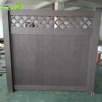 composite fencing for privacy garden better than pvc materials, privacy garden fence with lattice