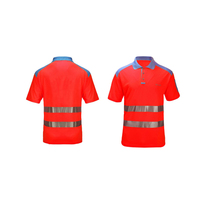 Wholesale Construction Work Short Sleeve High Visibility Hi Vis Safety Reflective Polo T Shirt