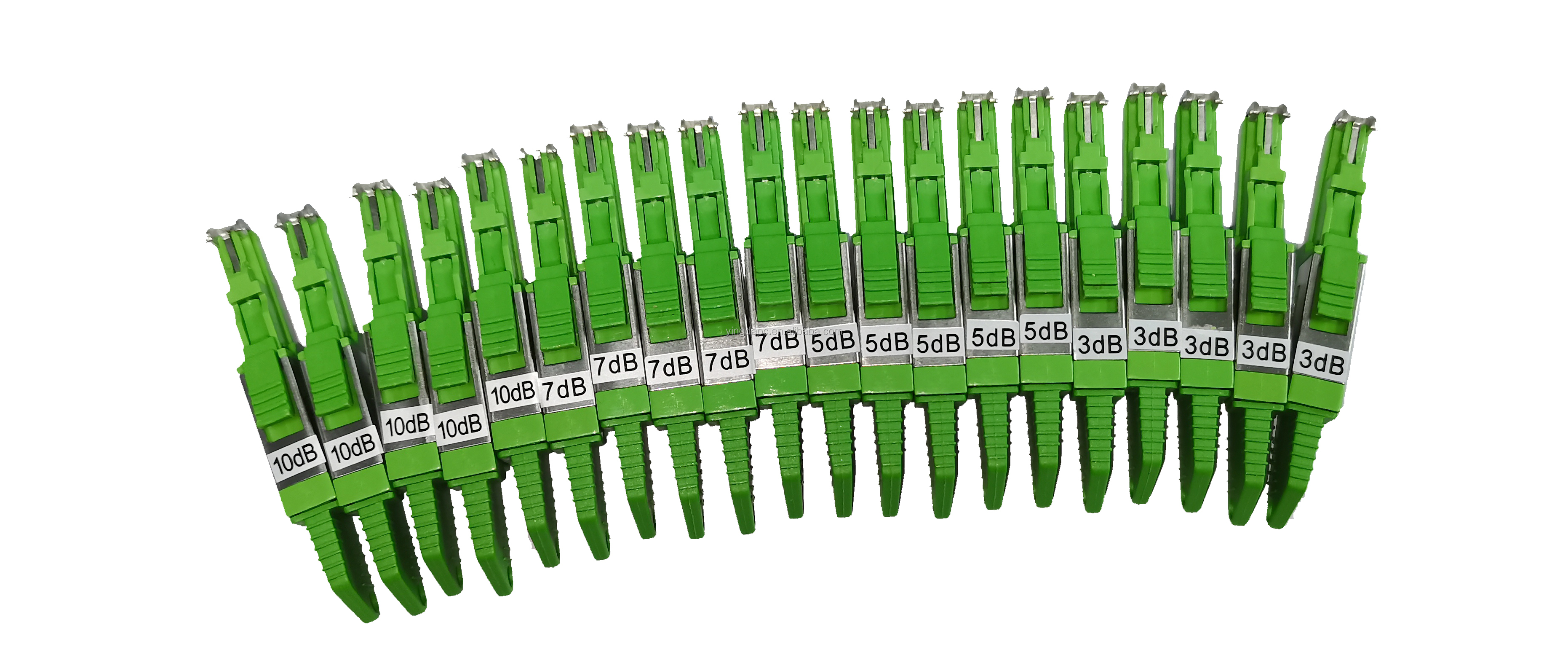 Fiber Optic SM E2000 APC Attenuator 1 to 20 dB