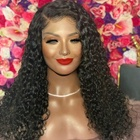 Fast Shipping 180% Hair Density Natural Thick Jerry Curly Glueless Virgin Brazilian Human Hair Lace Front Wigs