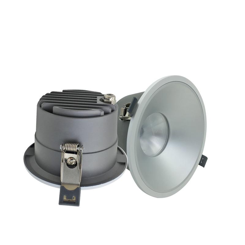 New Design Deep Anti Glare 60 Deg Recessed LED Downlight Prices 20W Down Lights LED Ceiling Light Downlight Chrome Warranty 3 Y