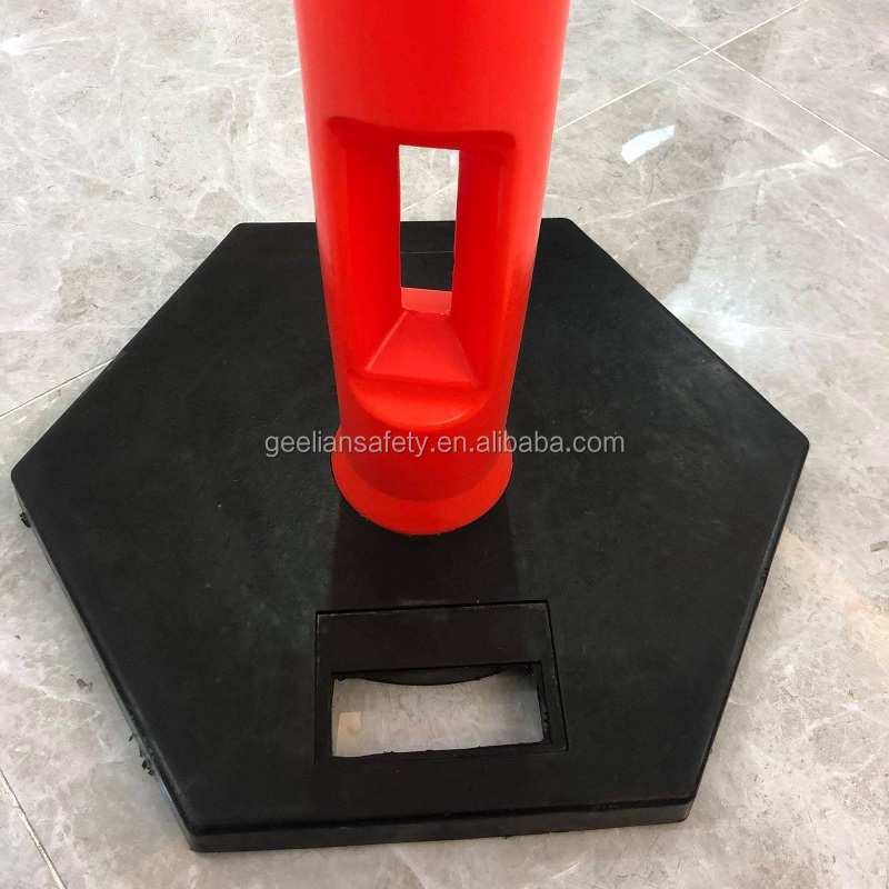 Orange heavy duty reflective traffic safety post and bollards