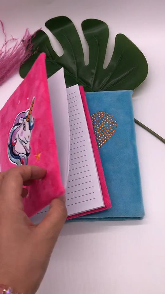 Oem Best Price Plush Cover Girl Dairy Cartoon Fuzzy Animal Shape Notebook