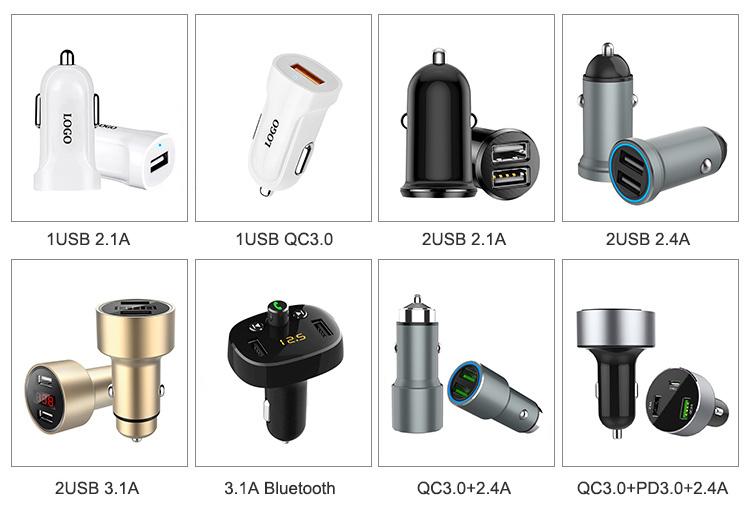 Araba 2 USB şarj aksesuarları FM verici eller serbest 5V 3.1A Bluetooth adaptörü takılabilir çift USB araç şarj adaptörü