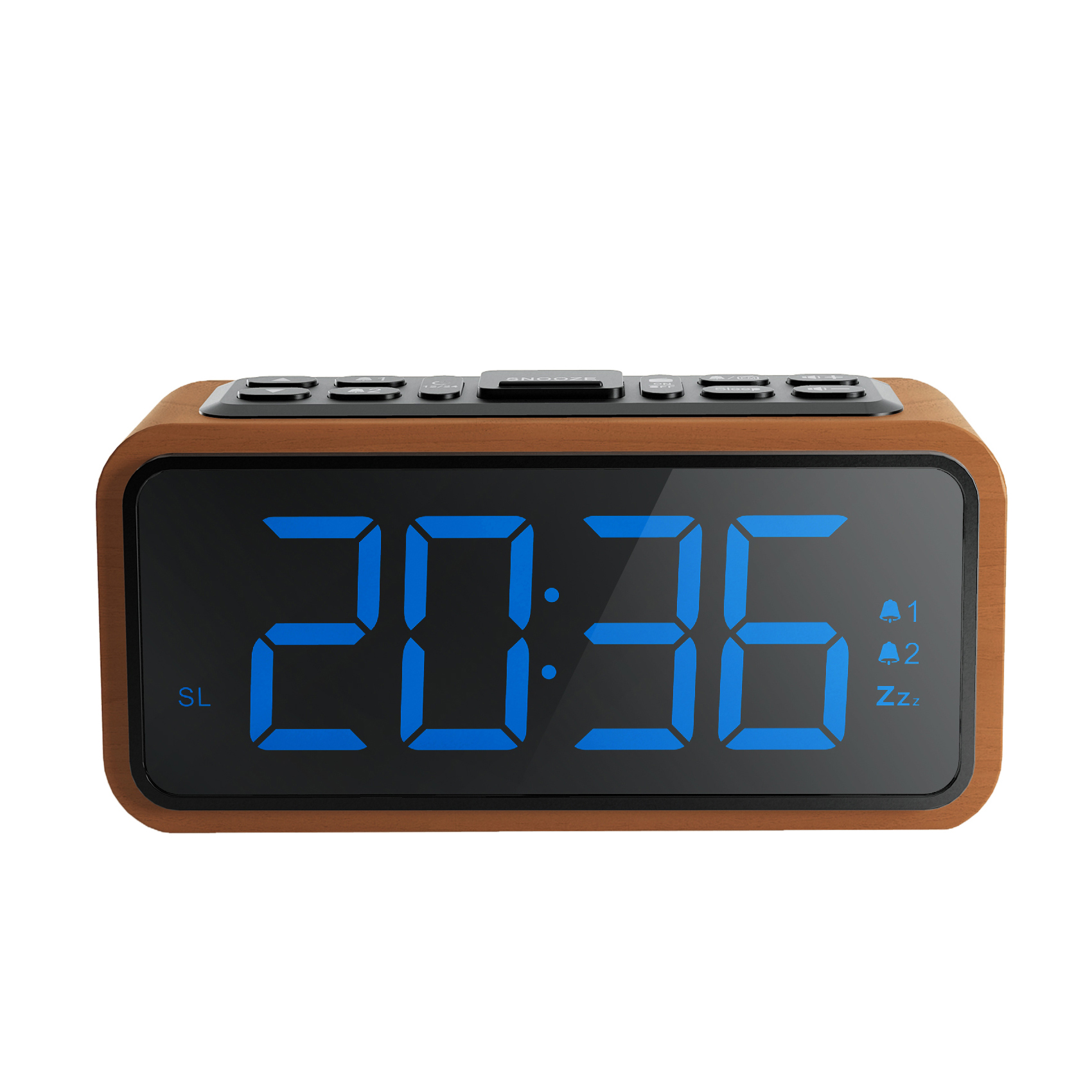 Da tavolo moderna digital clock snooze alarm clock USB