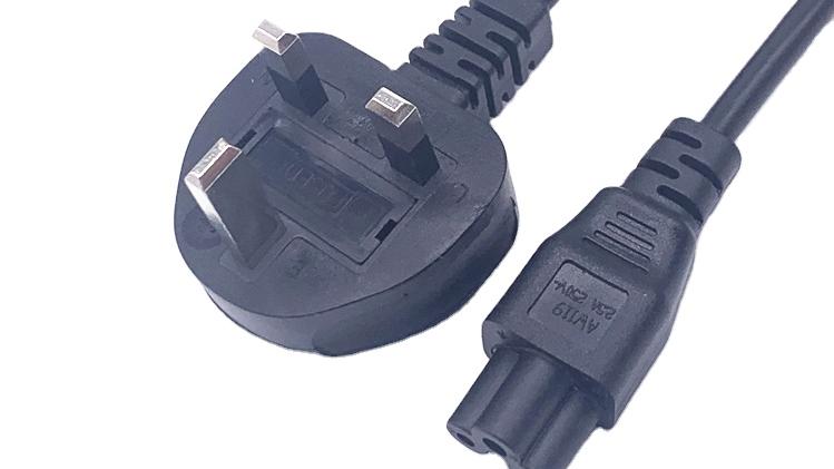 Вилка с 3 зубцами Кабель питания BSI утверждения UK AC 13A 250V сетевой кабель