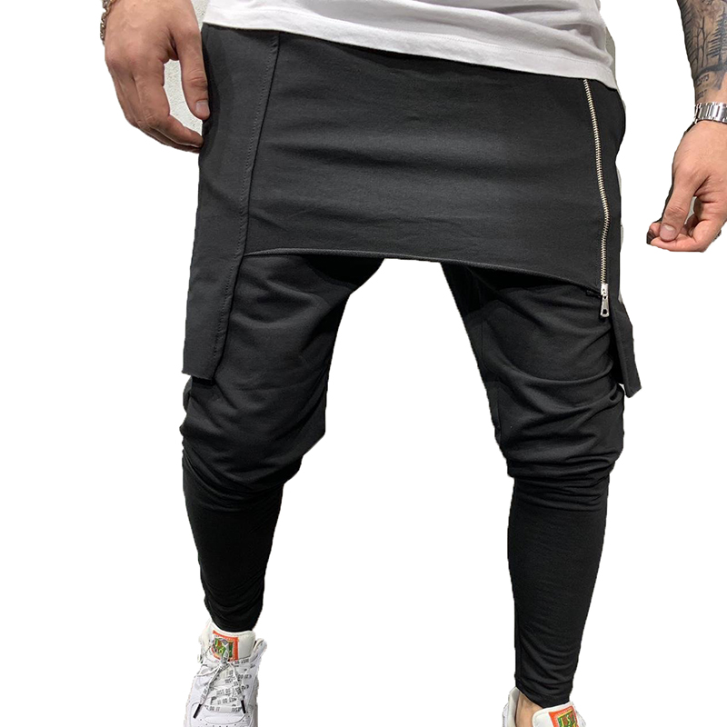 Men's Hip-hop Jogging Harem Pants Drop Crotch Baggy green Pants