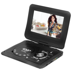 SONADY9.8Portable DVD VCD Player With Analog TV PAL NTSC SECAM FM Radio USB SD Card Function AVOUT AVIN