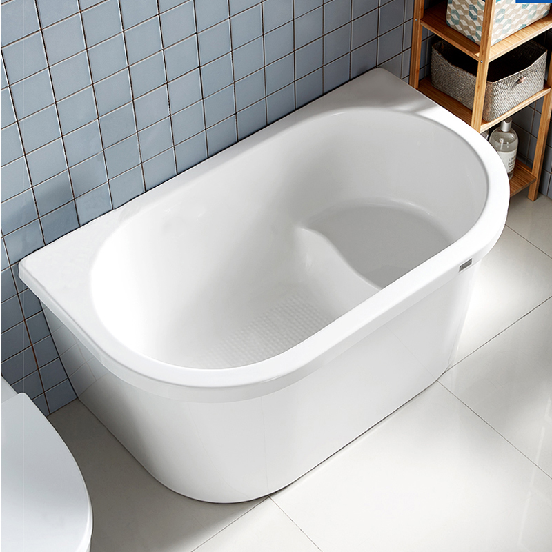 Offre Spéciale foshan autoportant blanc acrylique mini 120cm assis petite baignoire bébé enfants baignoire