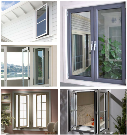 High quality china factory latest design Aluminum profile double glass Terrace Casement Windows price