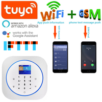 Tuya APP WIFI GSM Alarm Work With IP Camera Home Bussiness Security System GPRS SMS Smart Hub Alarm For Alexa Google Assistant