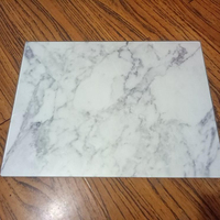 rectangular shape marble design tempered glass cutting board for kitchen food fruit cheese
