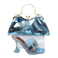 Wholesale Fashionable Lady African Women Matching Italian Shoe and Bag Set Italy Geriger Gegallel Party Wedding Matching Bag Set