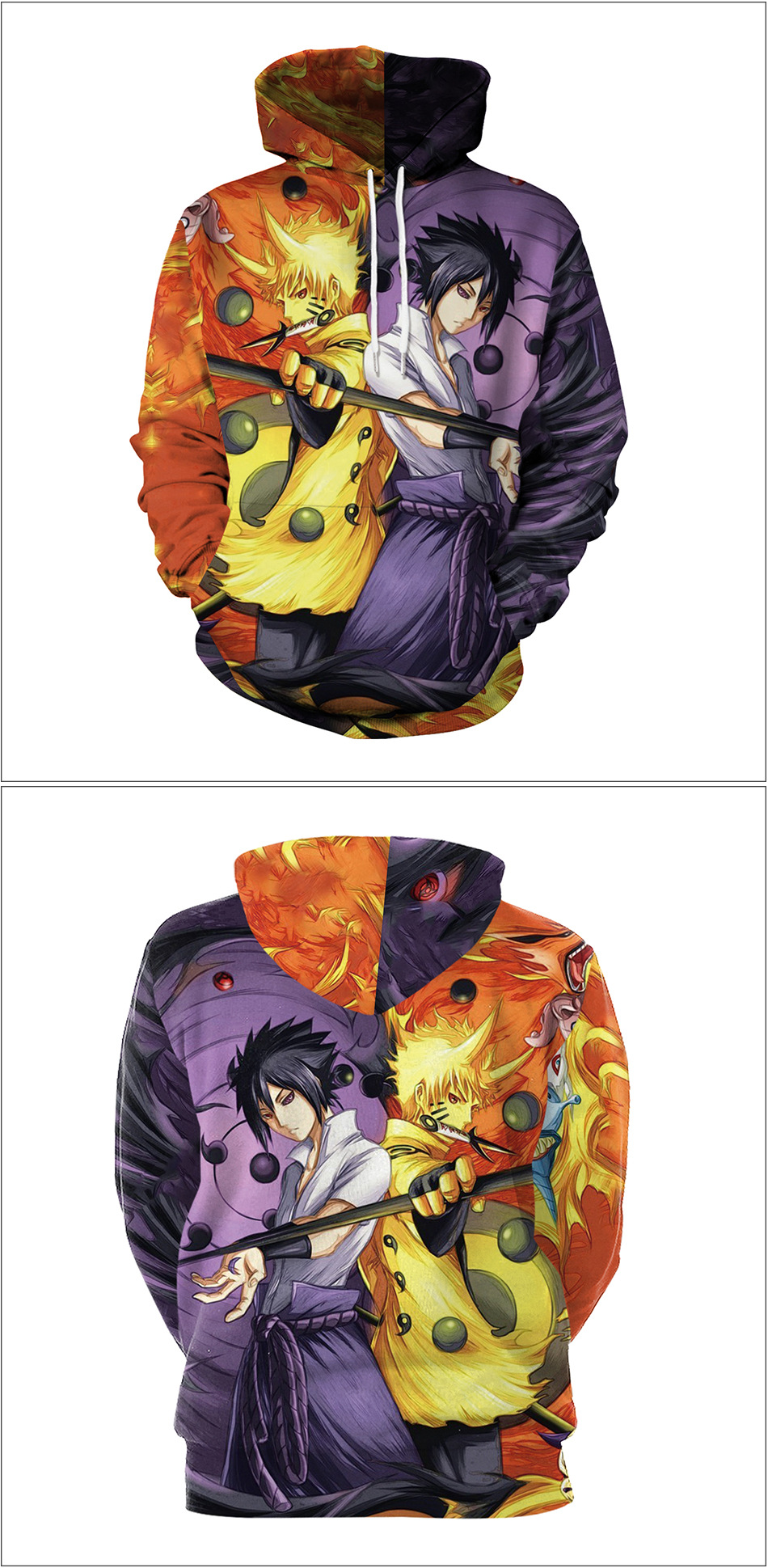 Anime Naruto Sasuke Cosplay Costumes Jacket Sweater Casual Coat Clothes Hoodie Autumn Fashion Women Halloween Costumes Adult Men