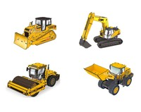 DIY 3D vehicle puzzle model bulldozer Engine toy cars for kids