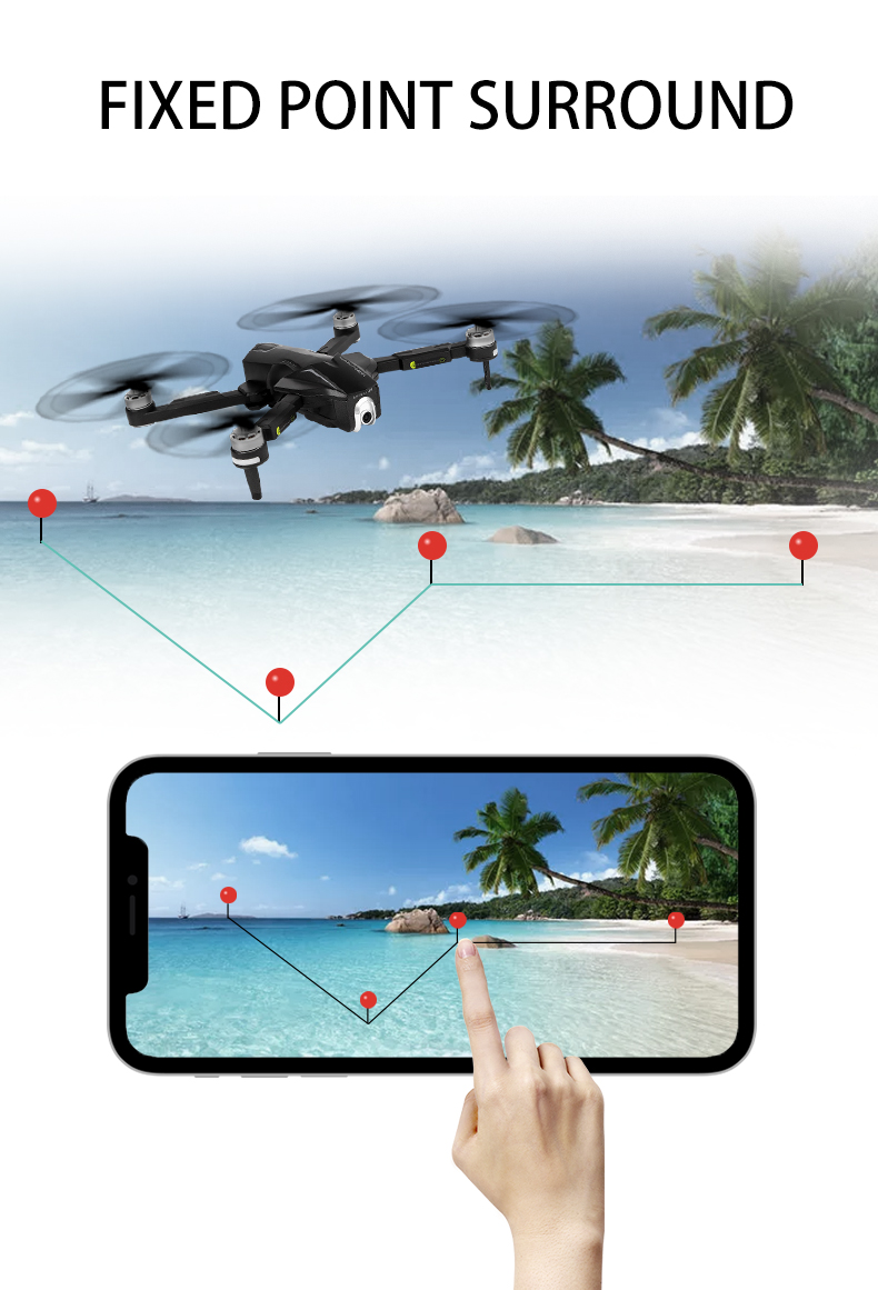 Brushless drone with 1080P HD Adjustable 110Wide-Angle WiFi X Pro Camera Live Video FPV GPS Drone for Adults and Beginners